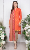 - 1.25mtr Lawn Shirt (Wider Width)  - Extra lawn Sleeves (Wider width)  - 2.5mtr Lawn Dupatta  - 2mtr Textured pants (Wider width)  - Embroidered Sleeves