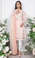 -2.5mtr Lawn Pearl Printed Shirt (Wider Width)  - 2.5mtr Lawn Embroidered Dupatta  - 2mtr Textured Pants (Wider Width)