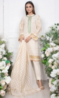 - 2.5mtr Lawn Pearl Printed Shirt (Wider Width)  - 2.5mtr Indain Chanderi Dupatta  -2.5mtr Indain Chanderi Dupatta  - Embroidered Shirt