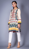 100% Lawn ready to wear digital printed shirt Round neck with pipine and buttons Straight shirt and full sleeves