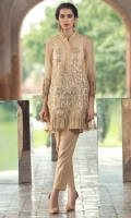 3 Pc Stitched Dress.Organza Shirt With Richly Embroidered Front.Embroidered Sleeves.Inner Also Attached,Cambric Trouser