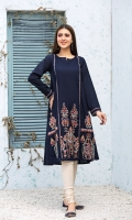 Stitched Lawn Frock.Best Neck With slit Embroidered Front Embroidered Sleeves. Plain back