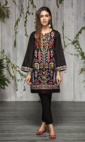 Stitched Lawn Shirt . Boat Neck With Slit.Richly Embroidered Front. Embroidered Sleeves. Plain Back