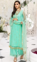 Embroidered Polynet Front 0.80m. Sleeves & Back 1.5m. Embroidered Neck 1Pc. Embroidered PolyNet Dupatta 2.5m