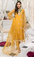 Embroidered Polynet Front 0.80m. Sleeves & Back 1.5m. Embroidered PolyNet Dupatta 2.5m