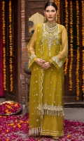 Embroidered Polynet Front 1 Pc Embroidered Neck 1 Pc Plain Sleeves & Back 1.5M Embroidered Tape For Sleeves 1.25 M Embroidered Polynet Dupatta