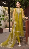 Embroidered Polynet Front 0.80M Sleeves & Back 1.5M Embroidered Neck 1Pc Embroidered Border Patti 2M Embroidered Sleeves Patch 1Pc Embroidered Polynet Dupatta