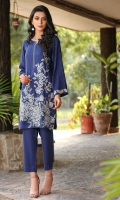 2 PC STITCHED DRESS  ROUND NECK WITH SLIT  EMBROIDERED NECK LINE  EMBROIDERED FRONT  EMBROIDERED SLEEVES WITH PLEATS  PLAIN BACK.LINEN TROUSER