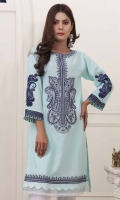 Embroidered Cambric Stitched Kurti