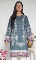 Printed Cambric Stitched Kurti