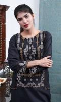Embroidered Khaddar Stitched Kurti