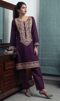 Embroidered Khaddar Stitched 2 Piece Suit