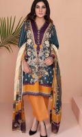 Printed Lawn Stitched 3 Piece Suit