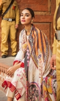 Front: 1.25 Yards Fully Embroidered with Panni Work Back: 1.25 Yards Fully Embroidered Sleeves: 0.75 Yards Embroidered Trouser: Cambric Plain Dupatta: 2.8 Yards Silk Printed