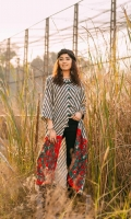 Fabric: Khaddar. Embellishment: Boat Shape Neck Front Open Button Down Metal Buttons Detail Medium Length Sleeves Loops Detail on Front. Fit: A-Line.