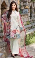 Shirt (2.3M) - Cambric Cotton  Dopatta (2.5M) - Chiffon  Lower(2M) - Cambric Cotton
