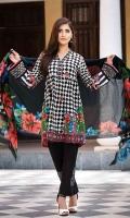 Shirt (2.3M) - Slub Khaddar  Shawl (2.5M) - 100% Wool  Lower (2M) - Cambric Cotton  Embroidery - Neckline  Sleeve Patti  Border+Motif