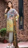 Digital Shirt (2.3 M) - 100% PIMA Cotton  Trouser (2 M) - 100% Cotton  Embroidery - Motif