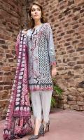 Digital Shirt (2.3 M) - 100% PIMA Cotton  Trouser (2 M) - 100% Cotton  Dupatta (2.5 M) - Chiffon  Embroidery - Motifs