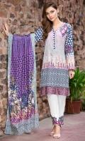 Digital Shirt (2.3 M) - 100% PIMA Cotton  Trouser (2 M) - 100% Cotton  Dupatta (2.5 M) - 100% Cotton  Embroidery - Patti + Motif + Patch