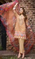 Digital Shirt (2.3 M) - 100% PIMA Cotton  Dupatta (2.5 M) - Chiffon  Embroidery - Neckline