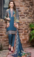 Digital Shirt (2.3 M) - 100% PIMA Cotton  Dupatta (2.5 M) - Chiffon  Embroidery Patti