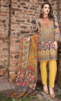 Digital Shirt (2.3 M) - 100% PIMA Cotton  Trouser (2 M) - 100% Cotton  Dupatta (2.5 M) - Chiffon  Embroidery All over