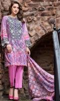 Digital Shirt (2.3 M) - 100% PIMA Cotton  Trouser (2 M) - 100% Cotton  Dupatta (2.5 M) - 100% Cotton  Embroidery - Neckline + Patti + Motif