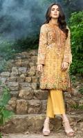 Shirt (3M) - Luxe Khaddar  Embroidery- Border