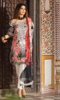 Shirt (2.3M) - 100% PIMA Cotton  Dopatta (2.5M) - Crinkle Chiffon  Lower (2M) - 100% Cotton  Embroidery - Panel + Motif