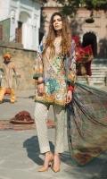 Shirt (2.3M) - 100% PIMA Cotton  Dopatta (2.5M) - Crinkle Chiffon  Lower (2M) - 100% Cotton  Embroidery - Motif
