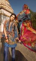 Shirt (2.3M) - 100% PIMA Cotton  Dopatta (2.5M) - 100% Silk  Lower (2M) - 100% Cotton  Embroidery - Motif, Border, Patti