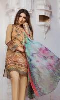 Shirt (2.3M) - 100% PIMA Cotton  Dopatta (2.5M) - Crinkle Chiffon  Lower (2M) - 100% Cotton  Embroidery - Panel + Border