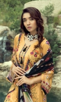 linen embroidered shirt pirnted Dupatta dyed trouser