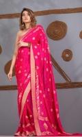 Saree Chiffon All Over Reshman Saree Jaal Motif on Pallu