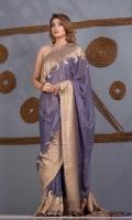 Saree Chiffon Mughal Atlas Zari and Resham