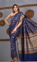 Saree Chiffon All Over Contract Color Zari and Resham Jaal