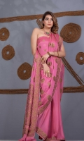 Saree Chiffon Skirt Style Motif Zari and Resham