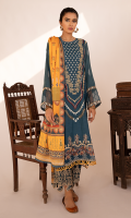 Embroidered Front Embroidered Front Border Digital Printed Back Digital Printed Sleeves Embroidered Sleeves Lace Digital Printed Shawl Plain Trouser Embroidered Trouser Border