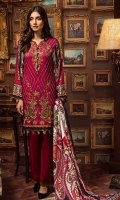 Shirt Front Digital Printed Embroidered Linen 1.30 Yards Digital Printed Shirt Back and Sleeves 1.95 Yards Digital Printed Cotelle Linen Dupatta / Shawl 2.75 Yards Dyed Linen Trouser 2.65 Yards