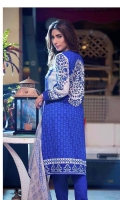 3 Piece Embroidered Lawn Suit With Chiffon Dupatta