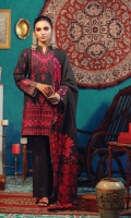 Embroidered Khaddar Front  Embroidered Khaddar sleeves  Dyed Khaddar back  Printed Border for back and sleeves  100% Pure Wool Shawl  Dyed Khaddar Trouser