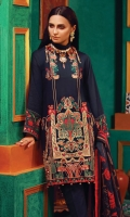 Embroidered Khaddar Front  Dyed Khaddar sleeves  Printed Khaddar back  100% Pure Wool Shawl  Dyed Khaddar Trouser