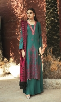 Schiffli Embroidered Khaddar Front Schiffli Embroidered Khaddar Sleeves Dyed Khaddar Back Embroidered Shawl Dyed Khaddar Trouser