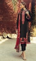 Embroidered Khaddar Front Embroidered Khaddar Sleeves Digital Printed Khaddar Back Digital Printed Shawl Dyed Khaddar Trouser