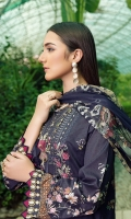 Digital printed shirt 3 meter  Embroidered front  Embroidered patch for daman  Embroidered lace for daman  Digital printed bambar chiffon dupatta 2.5 meter  Dyed trouser 2.5 meter