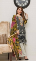 Emb lawn shirt Soft net dup  Plain shalwar