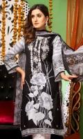 Embroidered Lawn Shirts  Printed Chiffon Dupatta  Chiken Trouser