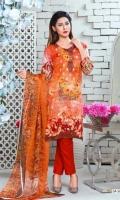 1 emb shirt lawn  2 crinkal shefoon dup  3 plain shalwar