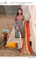 Digital Printed & Embroidered Lawn Shirt Digital Printed Chiffon Dupatta Printed Lawn Trouser